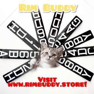 LTA registration stickers for scooters / PMD by Rim Buddy (DYU, Fiido, AM, Tempo, Speedway, Inokim, Dualtron, Ultron, Xiaomi)