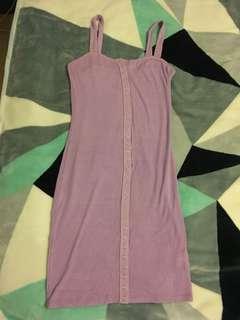 Fashion nova purple ribbed mini dress size S/M
