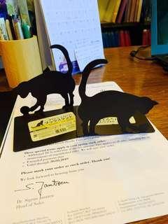 🚚 Steel Book Stand - Black Cat