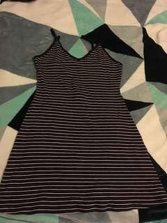 Forever21 stripe dress size L