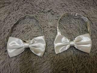 #MMAR18 2 Bow Tie for Groomsmen - light grey