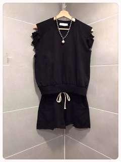 全新韓國製純棉短袖短褲套裝