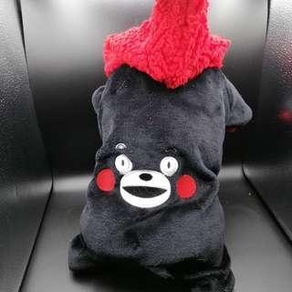🚚 【sigmanet家庭百貨】近全新寵物四腳貓狗造型保暖衣~熊本熊L號