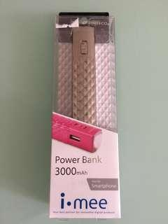 全新3000mAh 流動充電器 尿袋 Power Bank charger 電筒