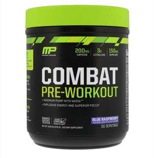 Brand New Unopened Combat Pre-Workout, Blue Raspberry, 9.84 oz (279 g)