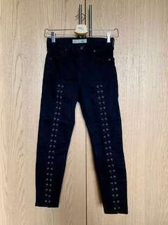 Topshop Jamie skinny 7/8 black jeans