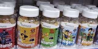 澳洲VitaSource多種維他命軟糖🍋🍊🍓🍐及奧米加3🐟魚油軟糖