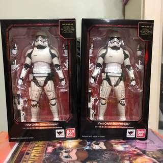 SHF First Order Stormtrooper 2盒 (Star Wars VII Force Awaken Starwars 星球大戰 白兵 )