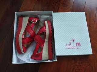 Red spring wedge