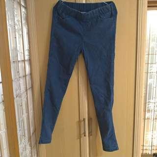 刷毛深藍長褲