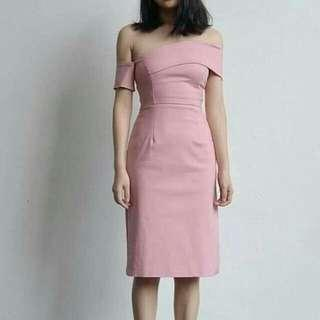 Pink semiformal dress
