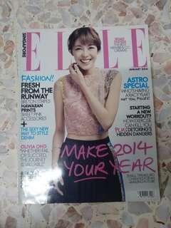 Elle Magazine Jan 2014 (Olivia Ong)