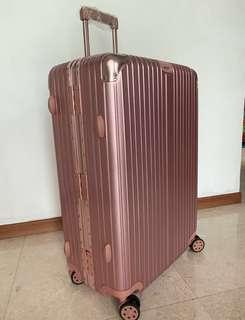 """8 Wheels Spinner 360° Suitcase 29"""" Rose Gold Pink"""