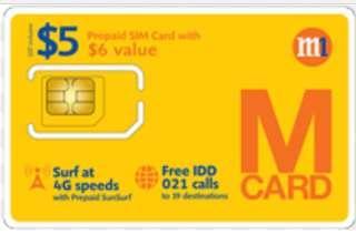 M1 Prepaid Sim Card (registered)