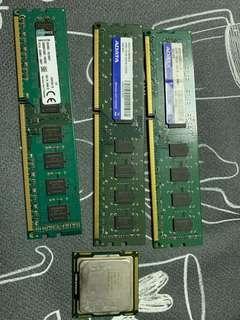 kingston 8GB 1600 adata2Gb 1333 x2 i3 550 cpu ram