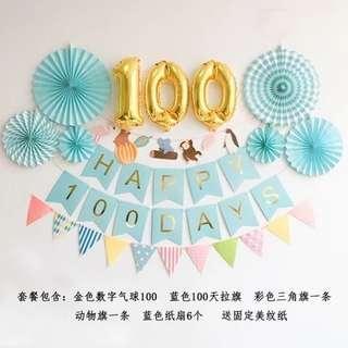 100 days celebration decoration