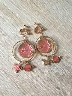 🚚 [NEW] Peachy Moon Astronomy Earrings