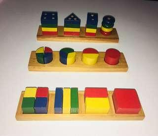Educational toys - learn fractions