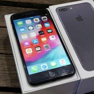 iPhone 7 Plus 256GB Blackmatte Fullset Lengkap