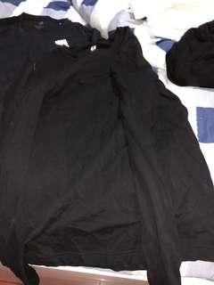 H and m black long sleeve