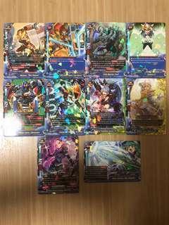 Buddyfight Hero World Rare Cards