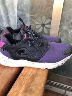 Reebok furylite 黑紫色 女生 38號 245