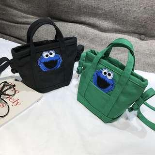 Cookie Monster Ulzzang Sling Bag