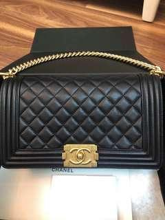 #23 chanel boy lamskin ghw bag