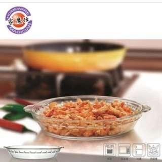 【家魔仕】圓形10吋耐熱玻璃烤盤1入 HM-3245