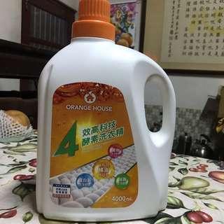 🚚 橘子工坊天然4效高科技酵素洗衣精4000ml/桶(2021年12月20日有效)