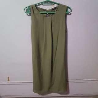 Terranova olive green dress with belt