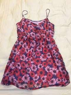 Red Floral Zara Trf Collection Dress