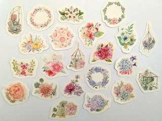 🚚 Pastel Flowers sticker set