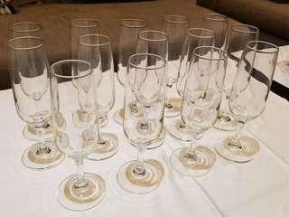 14 Champagne glasses (made in Italy) 14隻 意大利 香檳杯