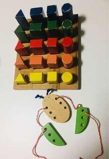 Wooden Blocks. Shapes. Colours. Free gift
