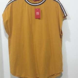 Women shortsleeve shirt in yellow
