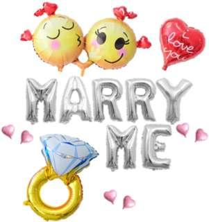 Proposal Balloons Set 求婚必備巨型鑽戒套裝