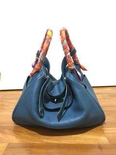 Hermes Lindy Blue Cobalt 30 in PHW