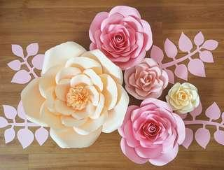 Giant Paper Flowers Set *Ready Made !