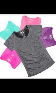 速乾彈力運動T恤 短袖女緊身透氣T恤 健身衣修身户外跑步瑜伽服