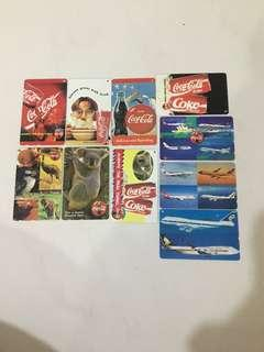 🚚 SMRT Card- Coca Cola & Airliners (10 Japanese Phonecard )