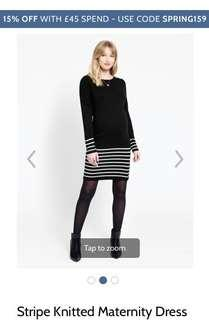 🚚 Jojo Maman Bebe - Maternity Knitted Stripe Dress