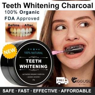 Authentic Teeth Whitening Charcoal 100% FDA Approved HSA Notified ORGANIC SPECIAL OFFER