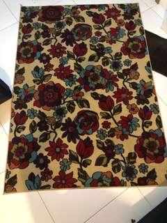 Imported area rug - floral design