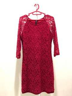 Cotton on Laced red dresses