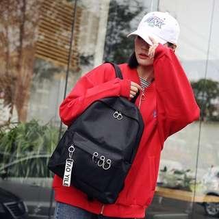 🚚 BN Unisex Basic Black Ulzzang Backpack