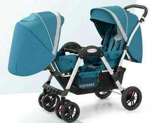 Offer !!! Twin stroller face to face instock newborn