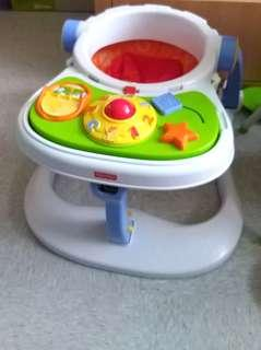 Fisher price 4 in 1 飯枱 推車仔