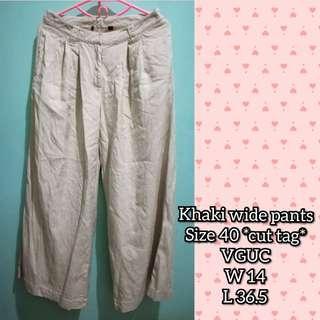 Wide legged silk pants