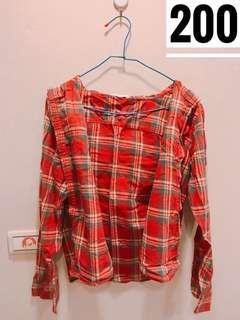 🚚 個性紅襯衫